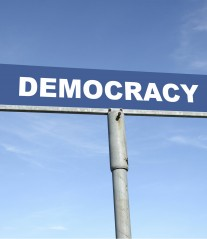 Democracy signpost