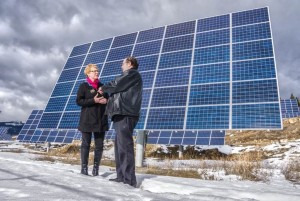 MLA Katrine Conroy at the SunMine Solar Farms in Kimberley
